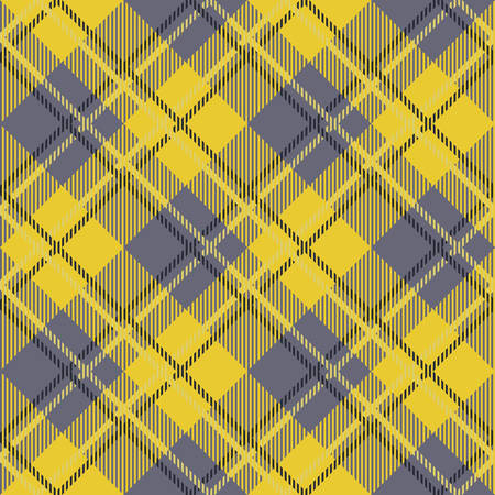 Tartan seamless vector patterns in blue and yellow colors