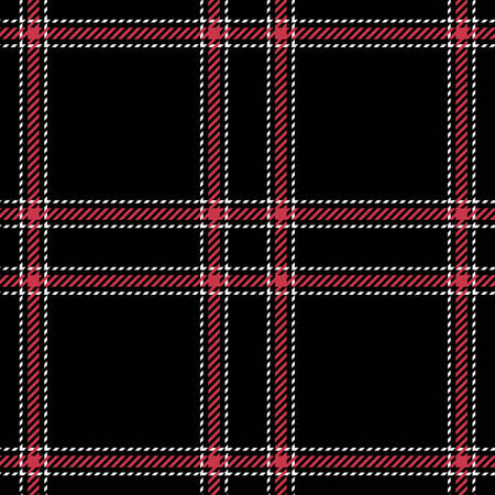 Tartan seamless vector patterns in black and red colors Illustration