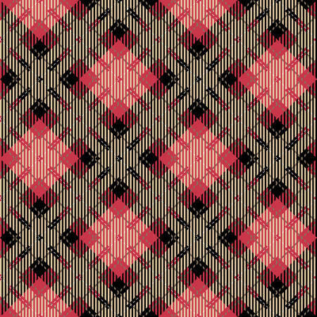 red and black: Tartan seamless vector patterns in black and red colors Illustration