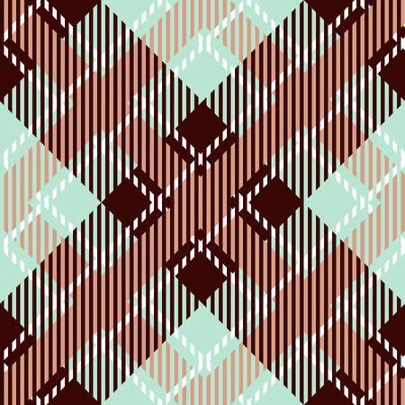 Tartan seamless vector patterns in beige blue colors