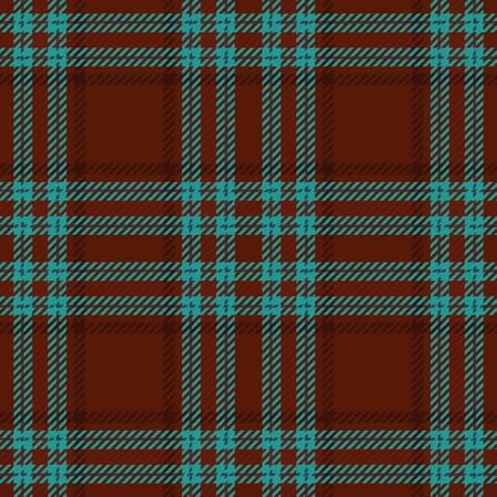 Tartan nahtlose Vektor-Muster in braunen und blauen Farben Standard-Bild - 78536044