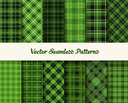patric: Patrick day patterns in green colors Illustration
