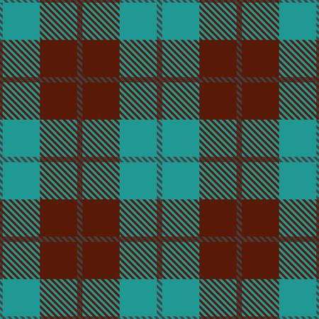 Ein Tartan nahtloser Vektor-Muster in braunen und blauen Farben Standard-Bild - 78536637