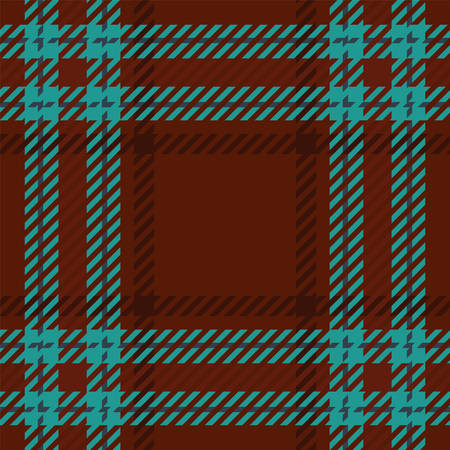 Tartan seamless vector patterns in brown and blue colors Illustration