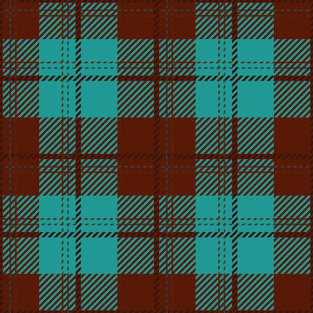 Tartan nahtlose Vektor-Muster in braunen und blauen Farben Standard-Bild - 78534257