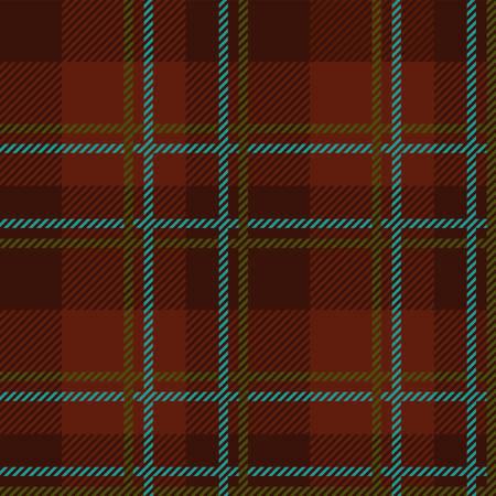Ein Tartan nahtloser Vektor-Muster in braunen und blauen Farben Standard-Bild - 78536643