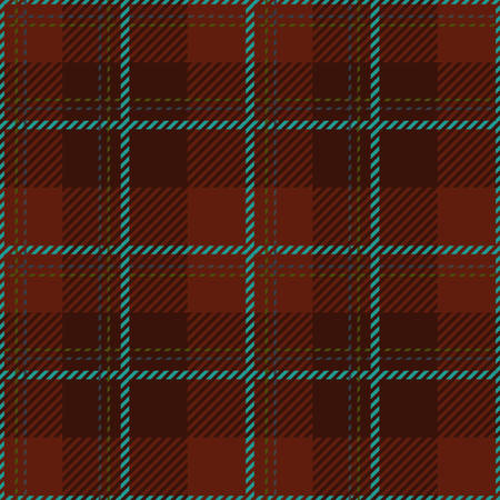 celtic: Tartan seamless vector patterns in brown and blue colors Illustration