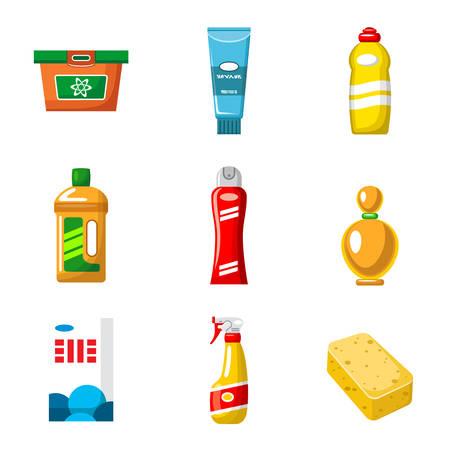 Objecten van huishoudelijke chemicaliën vector geïsoleerd op een witte achtergrond