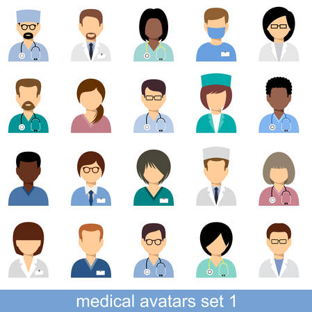 Medische avatars, team van artsen.