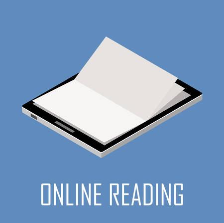 Online bibliotheekconcept. Vector illustratie