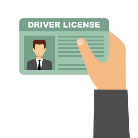 Man hand met auto rijbewijs. Vector Stock Illustratie
