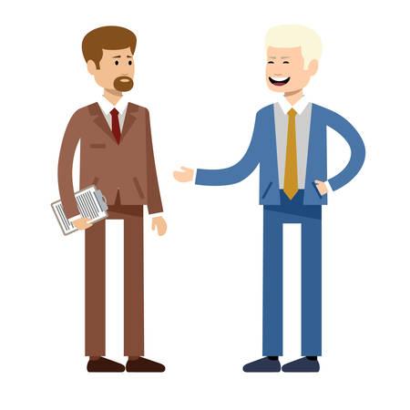 Glimlachende zakenmensen, kantoormedewerkers. Vector illustratie Stockfoto - 91392825