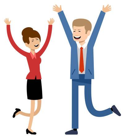 Glimlachende zakenmensen, kantoormedewerkers. Vector illustratie Stockfoto - 91392668