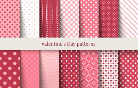 Valentines Day patterns. Vector illustration Stock Illustratie