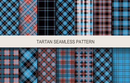 Tartan seamless patterns. Vector illustration Stock Illustratie