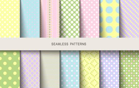 Easter patterns polka dot spring background. Vector