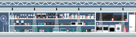 Equipment and electronics shop. Vector illustration Stockfoto - 124846781