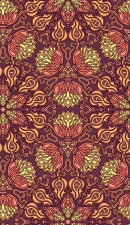 scrollwork: Decorative seamless pattern. Vector illustration. EPS-8.
