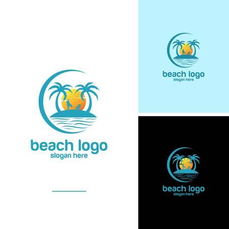 Beach logo design Vector Logo