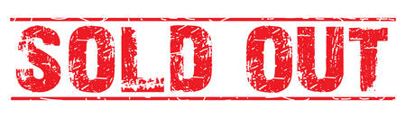 permission granted: rubber stamp with text sold out on white, vector illustration