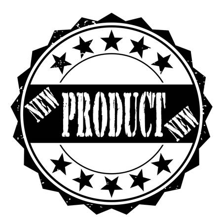permission granted: grunge rubber stamp with text new product on white, vector illustration