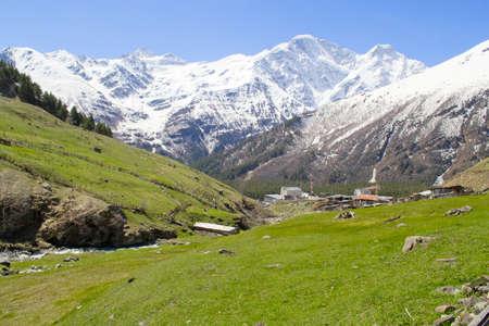 top seven: snow-capped mountains, landscape glacier Seven Stock Photo