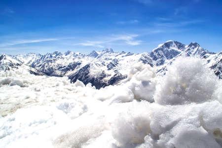 cloud capped: snow-capped mountains, the main Caucasian ridge