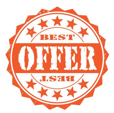 debtor: Grunge rubber stamp with text best offer, vector illustration