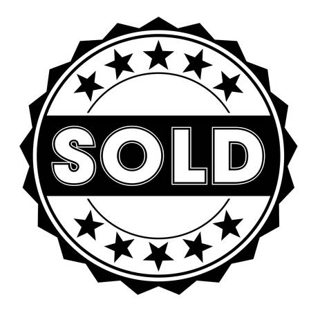 confirmed: grunge rubber stamp with text sold on white, vector illustration Illustration