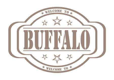 debtor: grunge stamp welcome to buffalo on white, vector illustration