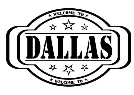 debtor: grunge stamp welcome to dallas on white, vector illustration Illustration