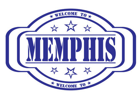 debtor: grunge stamp welcome to memphis on white, vector illustration Illustration