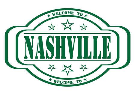nashville: grunge stamp welcome to Nashville on white, vector illustration