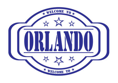debtor: grunge stamp welcome to Orlando on white, vector illustration