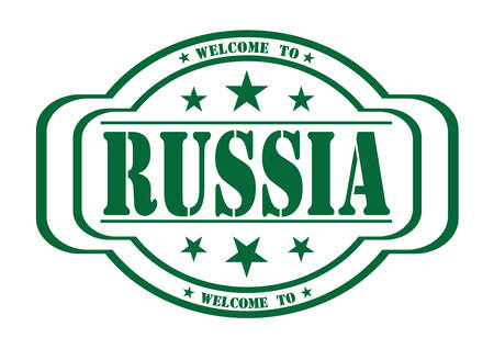 debtor: grunge stamp welcome to San Russia on white, vector illustration
