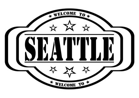 debtor: grunge stamp welcome to Seattle on white, vector illustration