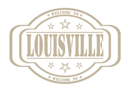 louisville: grunge stamp welcome to louisville on white, vector illustration