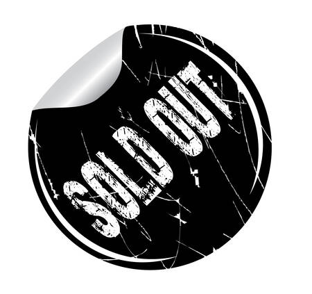 debtor: grunge sticker sold out on white, vector illustration