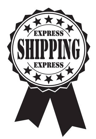 hallmark: express shipping icon on white