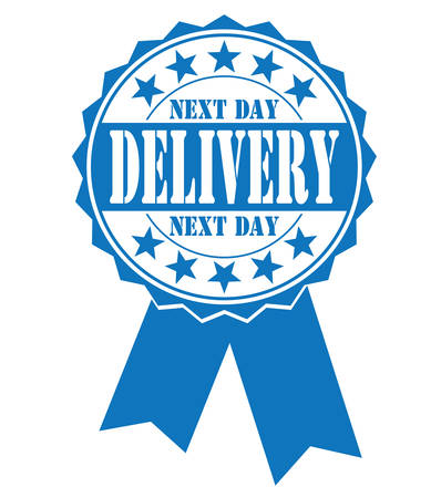 hallmark: next day delivery icon on white Illustration