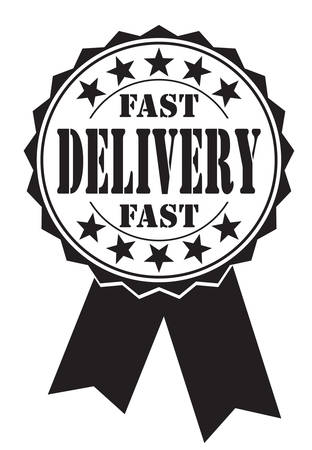 hallmark: fast delivery icon on white Illustration