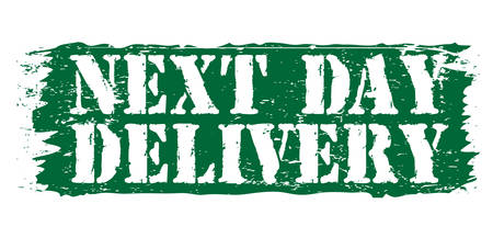 accepted label: next day delivery Illustration