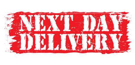 ratified: next day delivery Illustration