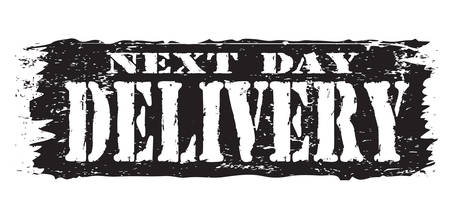 permission granted: next day delivery Illustration