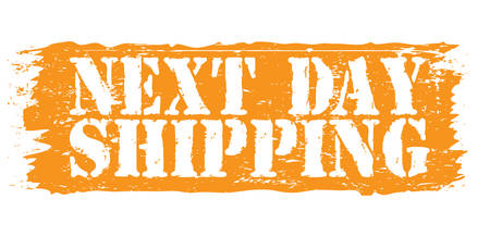 accepted label: next day shipping stamp