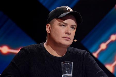 KYIV, UKRAINE - FEBRUARY 10, 2018: Andriy Danylko - member of the jury of the national selection Eurovision-2018 from Ukraine