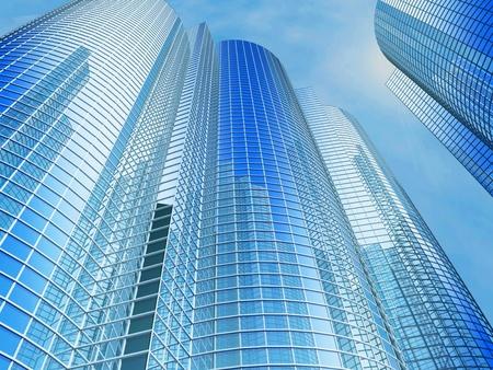 Office building on a background of the blue sky Reklamní fotografie