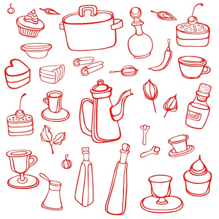 Kitchen background Stock Vector - 12479914