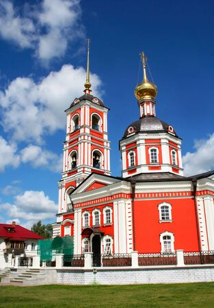 kerk van de rode in Rusland Stockfoto