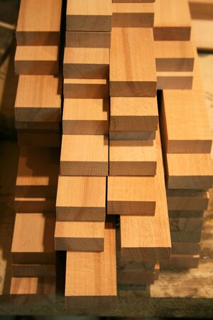 wooden boards in the carpentry shop